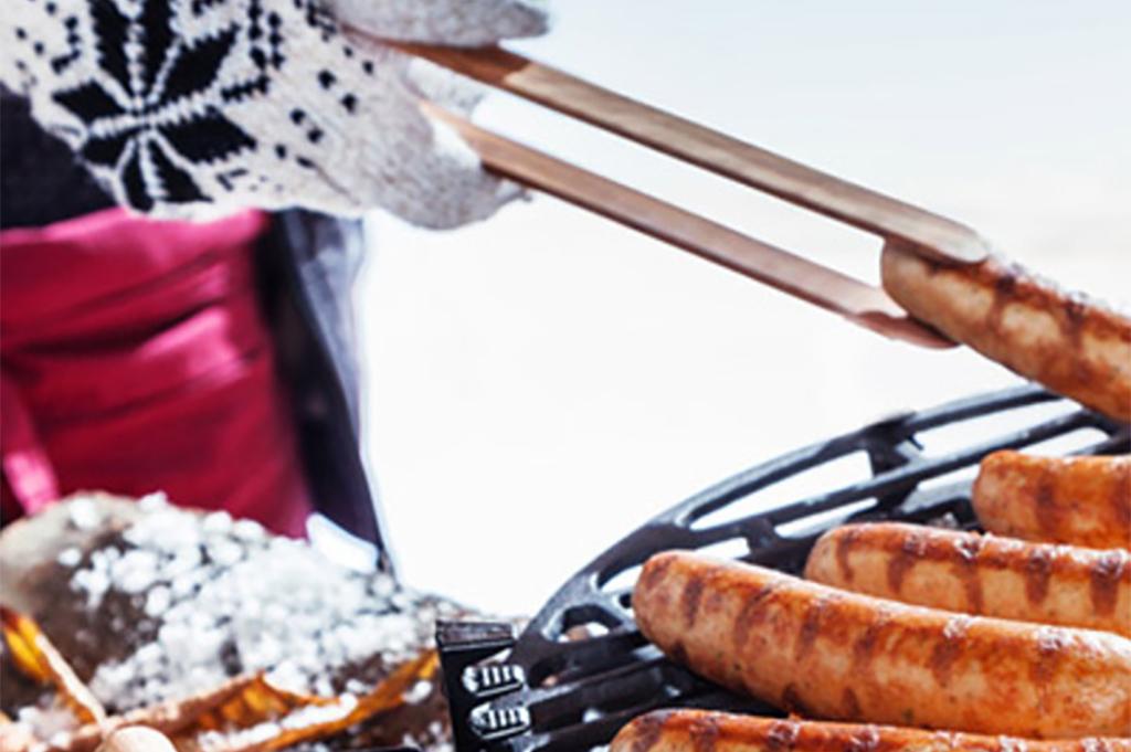 barbecue aan huis in de winter